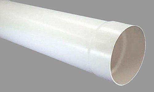 tube rond de Ø 150 mm manchon unilatéralement Tuyau 100 cm de long Extracteur Ventilation Tube PVC Tube * 527991