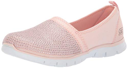 Skechers Damen Ez Flex Renew - Shimmer Show Slip On Sneaker, Pink (Rose Gold Rsgd), 38.5 EU