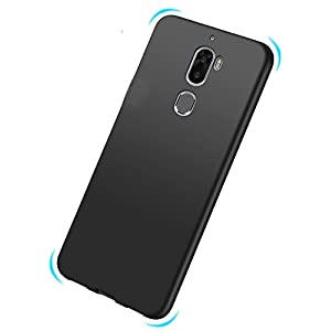 Tarkan Royal Slim Flexible Soft Back Case Cover for Coolpad Cool Play 6 [Matte Black] 360 Degree Coverage
