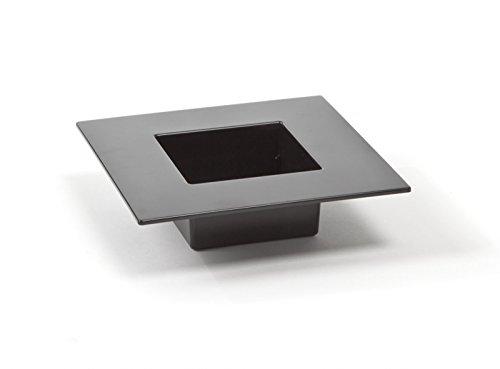 Ikebana Gefäss Basis Schale Vase Übertopf schwarz quadratisch Kunststoff L 19 cm - Ikebana-vasen