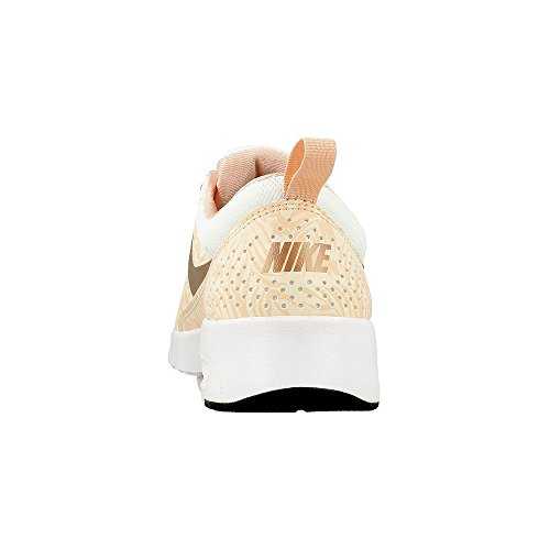 Nike Unisex-Kinder Air Max Thea Print (Gs) Low-Top Golden-Weiß