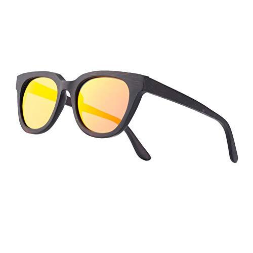 Zbertx Männer Frauen Brille Bambus Sonnenbrille Holz Handgefertigten Rahmen Polarisierte Brillen,rot