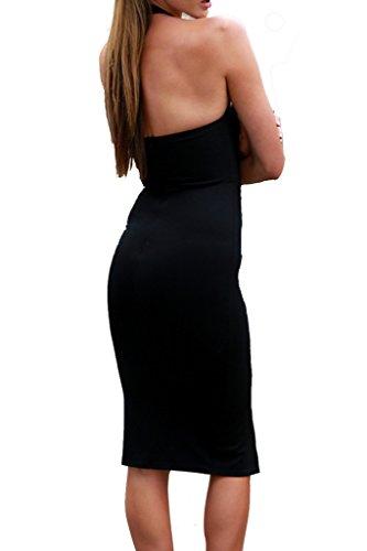 Simplee Apparel - Robe - Femme Noir - Noir
