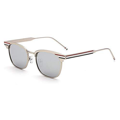 XHCP Frauen Klassische Sonnenbrille Exquisite Farbstreifen Dame 's uv-Schutz Sonnenbrille für Frauen männer farbige linse Outdoor Fahren Reisen (Farbe: c2)