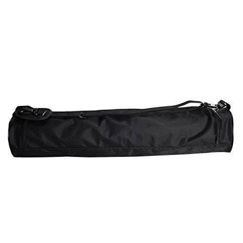 Pinhan Multifunktionale Oxford Stoff Diagonal Yoga Tasche Fitness Professionelle Yoga Matte Rucksack Abnutzung Wasserdichte Mode Tragbare Schultertasche Yoga Matte Tasche, Schwarz groß (73 * 13cm)