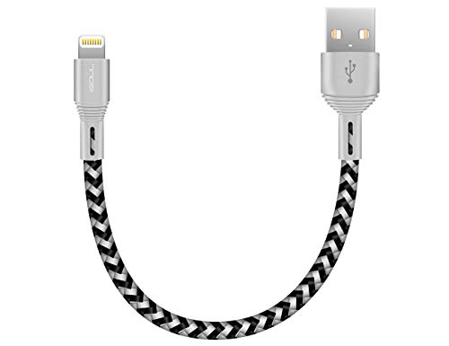 ISOUL Lightning iPhone Ladekabel Datenkabel, 15cm【Apple MFi Zertifiziert】 Nylon geflochten USB Kabel für iPhone XS/Max/XR/X/10/8 7 Plus/ 6s 6 Plus, iPad Air/Pro/Mini, iPod [ Schnellladekabel ]