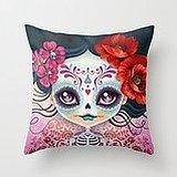 Busy Deals New Amelia Calavera - Sugar Skull Pillowcase Home Decoration pillowcase covers Amelia Slip
