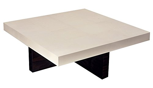 Afydecor Great Looking Wooden Cross Base Coffee Table - White