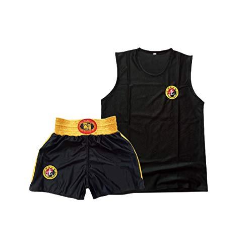 Inlefen Kind Sanda Kleidung Junge und Mädchen Trainingsanzug Männer und Frauen Erwachsene Boxen Set Boxing Shorts Muay Thai Kleidung Kampfsportbekleidung Sportbekleidung