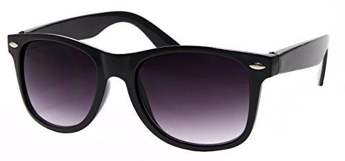 Cheapass Sonnenbrille Wayfarer Schwarz Nerd Unisex