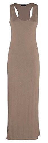 Sugerdiva Damen Schlauch Kleid Mokka