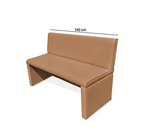 SAM® Esszimmer Sitzbank Family Chaplin in cappuccino, 140 cm Breite, Sitzbank mit pflegeleichtem SAMOLUX® Bezug, angenehmer Sitzkomfort, frei im Raum aufstellbare Bank mit Rückenlehne