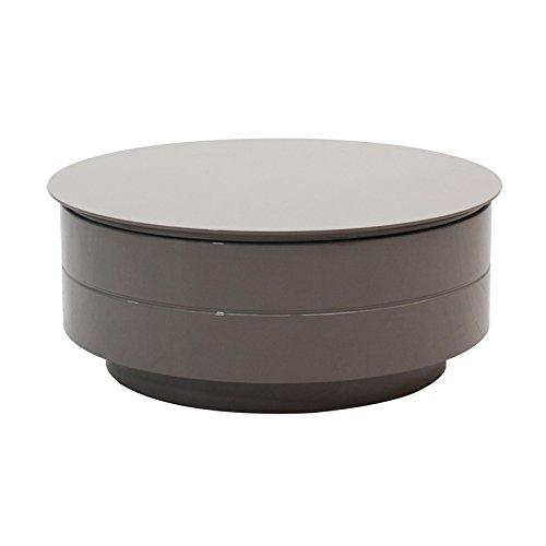 designement Tabatha Table Basse, Bois, Gris laqué, 84 x 84 x 35 cm