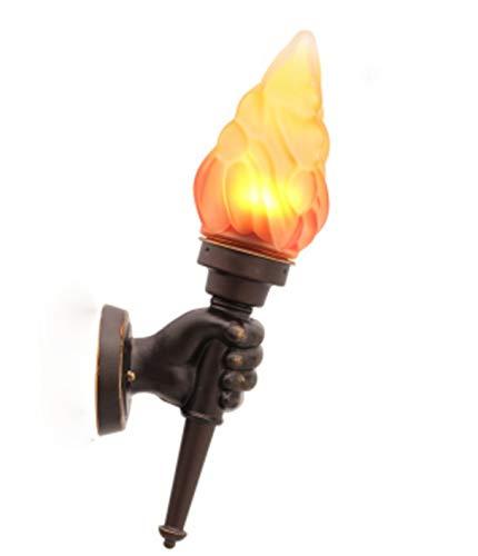 Fackelleuchte Aussen Fackeln Für Draußen Industrie Loft Mit e27 Aussenlampe Aussen Wasserdicht Aussenleuchte Außenlampe Außenleuchte Wandleuchte Wand Lampe Leuchte Außen Wandlampe (Linke Hand)