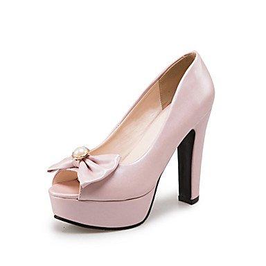 LvYuan Da donna-Sandali-Matrimonio Formale Casual Serata e festa-Comoda Innovativo-Quadrato-Materiali personalizzati Finta pelle-Blu Rosa Bianco Pink