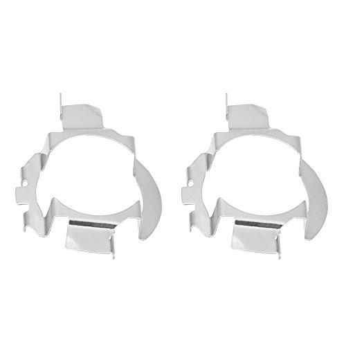 Qiilu QL04602 1 Coppia H7 LED Supporto Fari per Adattato
