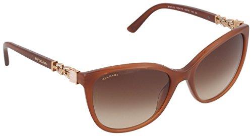 Bulgari 8145 occhiali da sole, marrone (transparent brown), 55 unisex-adulto