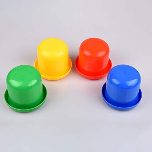 Verdickte Bottom Sifting Bar Pub Games Kombination Farbsieb Cup Verdickung Tap Würfelbecher Set (Farbe: zufällig) 5 -