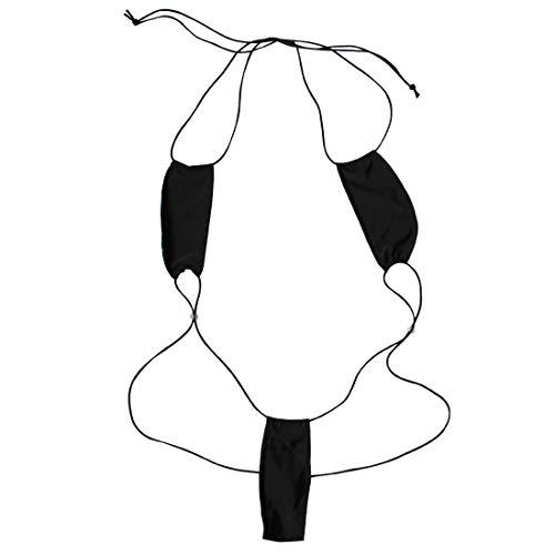 Creamlin Teeny Weeny Sling Shot Micro Mini Bikini Thong Einteiler Teddy (Schwarz)