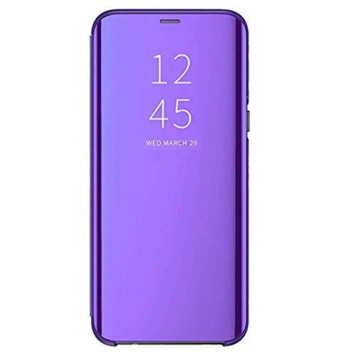 Custodia compatibile samsung galaxy s10 cover clear view flip specchio pc 360° protezione con funzione stand antiurto ultra-sottile impermeabile s10+ case per galaxy s10e 2019 (s10, violet)