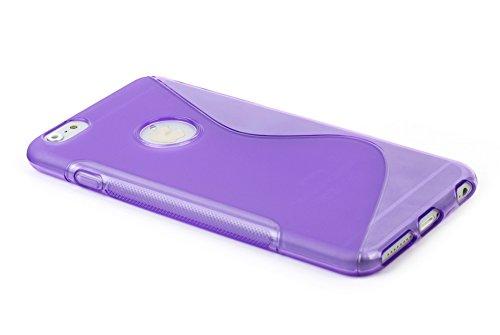 """Kit Me Out FR® Mince S Line Vagues Gel étui Coque House Case Cover [Anti Choc] pour Apple iPhone 6 Plus / 6S Plus 5.5"""" Pouce - Violet Violet"""