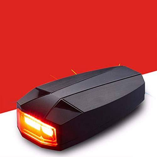 Tellaboull For Luces traseras para Bicicleta Inteligente antirrobo Luz de Cola de Bicicleta Alarma LED