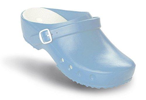 Schürr oP-chaussures chiroclogs classic avec et sans au niveau du talon Bleu - Hellblau mit Fersenriemen
