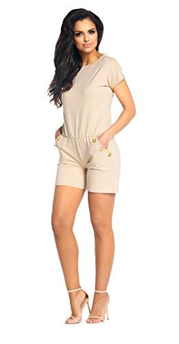 Lemoniade eleganter Jumpsuit in verschiedenen Varianten und Farben, Modell 2 Beige, Gr. M (36/38) -