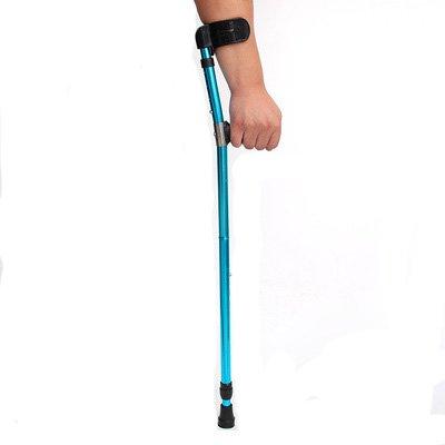 Teleskop Faltbar Schwarz Aluminiumlegierung Unterarm Krücke U-Förmige Ellenbogen Kissen Knee Druck Krücken Zusammenklappbar Erwachsene Einzigen Fuß Erholung Krücken Achsel Stock Und Stock - Krücken Faltbare