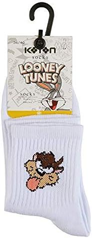Koton Kadın Corap Günlük Çorap, Beyaz (Beyaz 000), Tek Ebat (Üretici Ölçüsü: T)