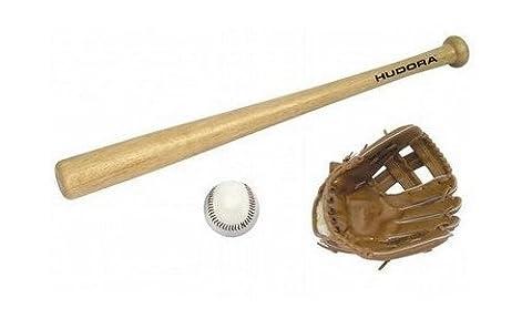 HUDORA Baseball-Set Kinder - Baseballschläger Holz -