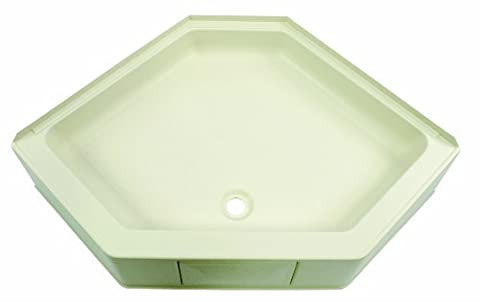 Lippert 301242 Better Bath 34 x 34 Neo Angle RV Shower Pan Center Drain Parchment by Lippert Components