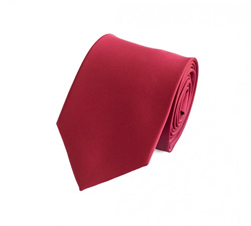 Elegante 8-cm Herren Krawatten von Fabio Farini, perfekt für Buisness, Hochzeit oder Abschlussball, Rot