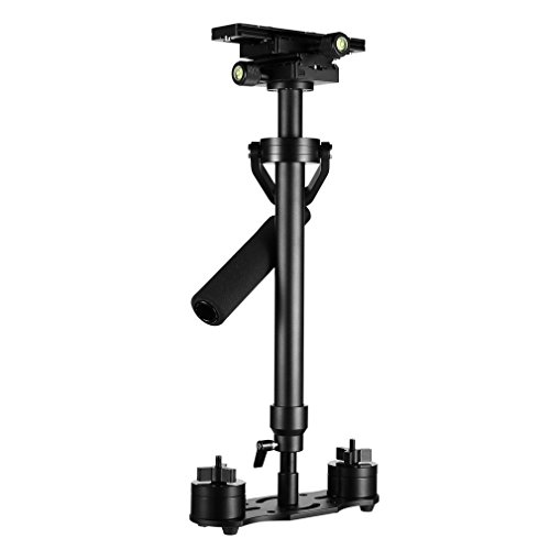 Schwebestativ, LESHP 60cm Schwebestativ Stabilisator Stabilizers Systemkamera Steadycam für Kamera Video DV DSLR Nikon Canon/Sony/Panasonic (Schwarz, S-60)