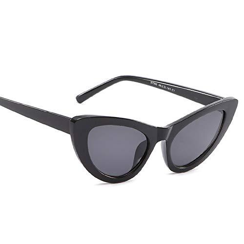 AmDxD Unisex Polarisierte Sonnenbrille | Linse aus AC | Katzenauge Vollrand Mode Brille UV400 Schutz | Für Outdoor-Aktivitäten, Farradfahren - Schwarz