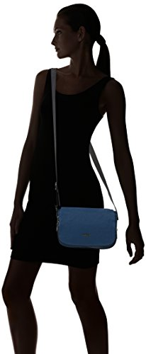 Kipling Damen Earthbeat S Umhängetasche, 26x17x0.1 cm Blau (Satin BLUE C)
