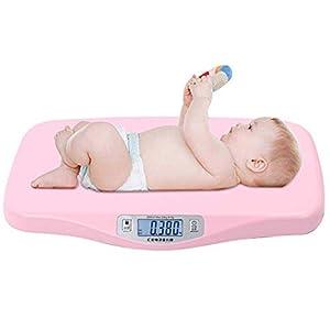 Simlug Babywaage Elektronische Baby-Säuglings-Haustier Automatische Peeling Waage Große Digitalanzeige
