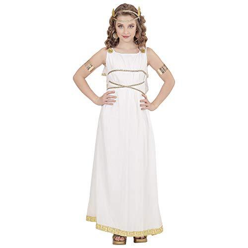 WIDMANN 02907 Kinderkostüm Griechische Göttin, Mädchen, Weiß, 140, 8-10 Jahre (Griechenland Kostüm Mädchen)