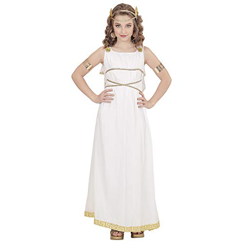 WIDMANN 02907 Kinderkostüm Griechische Göttin, Mädchen, Weiß, 140