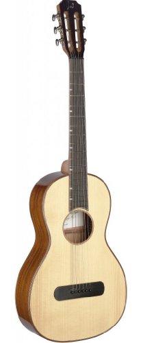 James Neligan LIS-P Acoustic Parlor Guitar mit Solid Spruce/Mahogany natur
