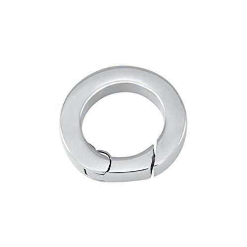 Quiges - Halskette Verbindungsring Carrier Edelstahl