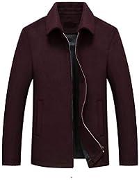 Amazon.it  giacca pelle uomo - Viola   Cappotti   Giacche e cappotti ... ce1c4084f66