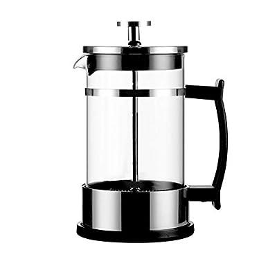 WPCBAA 350ml / 600ml Cafetière Manuelle Cafetière Espresso Théière en Verre en Acier Inoxydable Café Français Thé Percolateur Filtre Presseur Piston