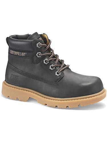 Caterpillar Kinder Schuhe Colorado Plus Zip Kurzschaft Leder Stiefel - CAT Boots, Farbe:Schwarz, Größe:EUR 31