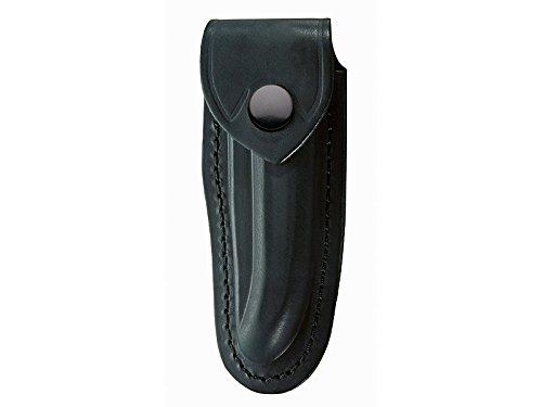 Schwarzes Leder-Etui, f. Laguiole-Messer mit 12cm Heftlänge, längs und quer tragbar