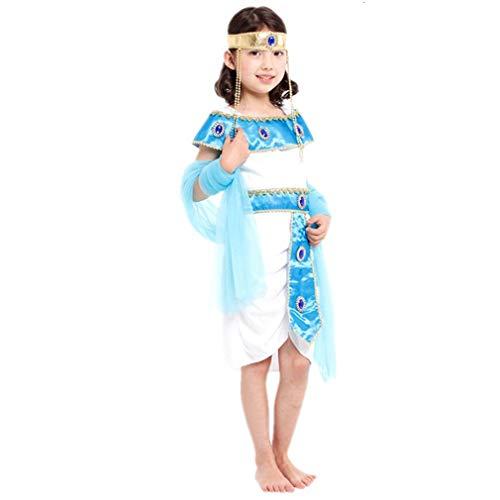 Mädchen Kostüm Ägyptisches - Unbekannt Halloween Kinderkleidung Mädchen Prinzessin Kleid Kleine Hexe Vampir Kostüm Maskerade Show Kleid Kürbis Kleid Athen Luo Ägyptische Prinzessin Geeignet für 120-130 cm (L)