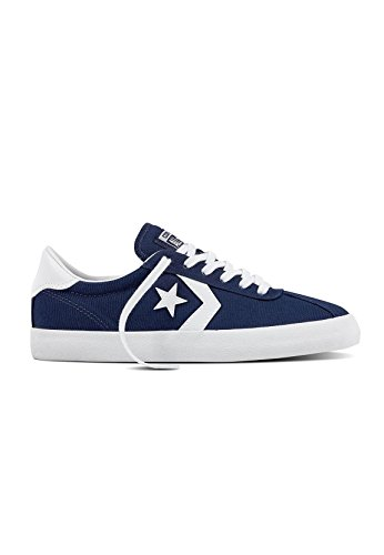Converse Mens Breakpoint Ox Canvas Trainers Midnight Navy White