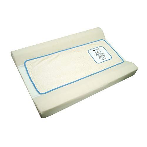 Imagen para Cambiador bebe, Funda bañera Bordado OSITO. Color BEIGE. Medida 80x53 cm. Desenfundable. Válido para cómodas, bañeras y convertibles. KOKETES, BEBELOVERS, MOBIBE