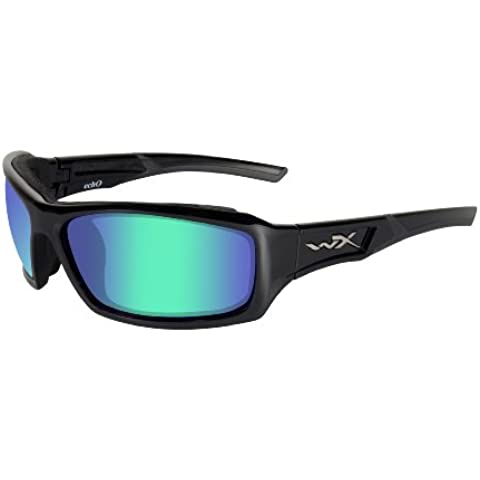 Wiley X Wx Echo CCECH04 - Occhiali protettivi, M/L, colore nero lucido - Wiley X Polarizzati