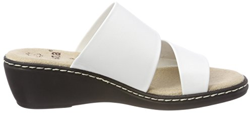 Jana Damen 27205 Pantoletten weiß (white)